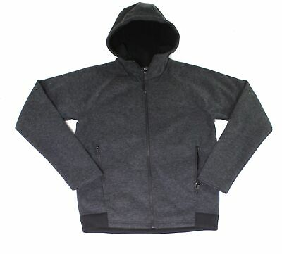 The North Face Mens Jacket Gray Size Small S Fleece Hooded Full Zip $160 927