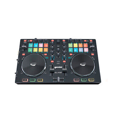 Gemini SLATE 2-Channel Serato Dj Intro Controller, New!