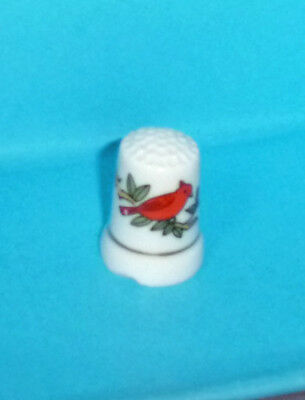 Orange Red Cardinal BIRD Thimble Buntings found in North and South America