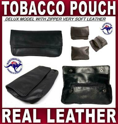 Tobacco Pouch Deluxe Nappa Softest Leather Smoke Cigarette Case Roller Paper