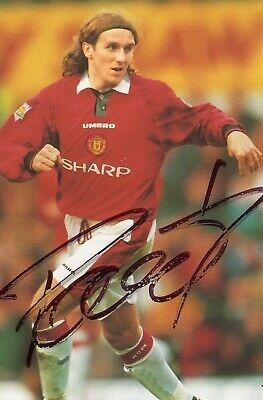 Karel Poborsky Autograph, Manchester United, Football, Soccer