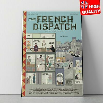 The French Dispatch 2020 Wes Anderson Movie Comedy Poster *LAMINATE* A5 A4 A3