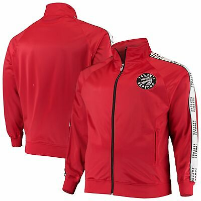 Toronto Raptors Majestic Big & Tall Sleeve Taping Full-Zip Track Jacket - Red