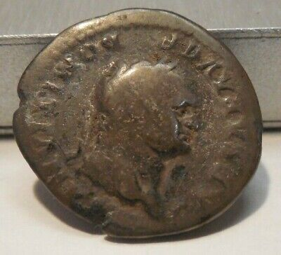 Roman Empire - Silver Denarius - Domitian as Caesar - 81-96 AD - REV: Wolf&Twins