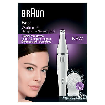 Braun FaceSpa 810 Mini Epilator & Cleansing Brush Attachment Brand New Boxed