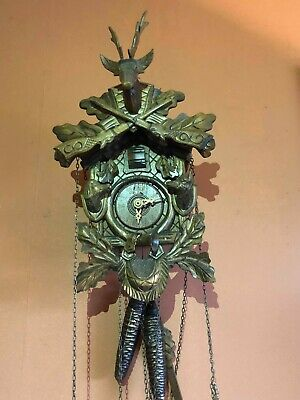 Anton Schneider Black Forest Cuckoo Clock (needs some repair)