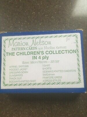 Marion Nelson - The Children's Collection Set Knitting Cards -