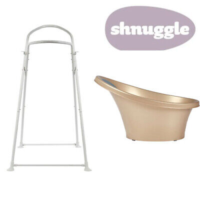 Shnuggle Baby Bath with Bum Support & Bath Stand - Gold - NEW STYLE