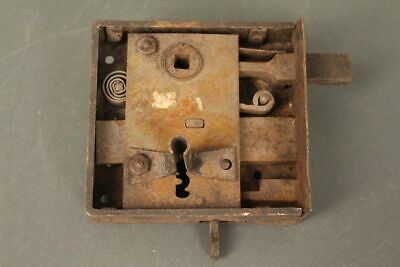 Case Lock Antique Lock Door Lock O. Key Solid um 1900 Handles