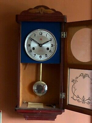 Beautiful Wooden Wall Clock with Pendulum