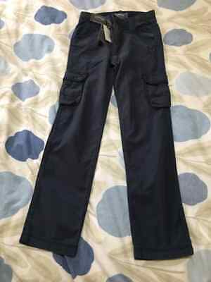 Fat Face Navy Penzance Cargo Trousers Boys Age 10 - 11 BNWT