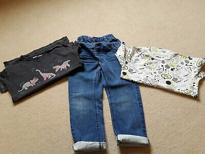 Next 100% Boys Bundle Age 5-6 Y Jeans Tshirts Dinosaur Smart Casual Trendy
