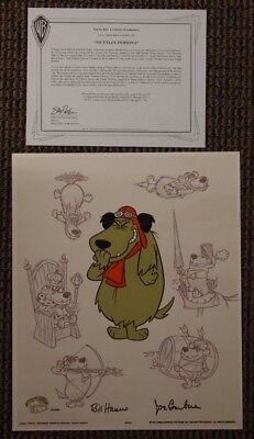 """Muttley Persona"" Ltd Ed Cel SIGNED Hanna Barbera Animation Art Dog Canine"