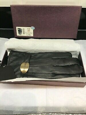 BNWT Mulberry soft nappa leather gloves L/XL black