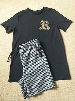 River island boys top & shorts age 9-10 years
