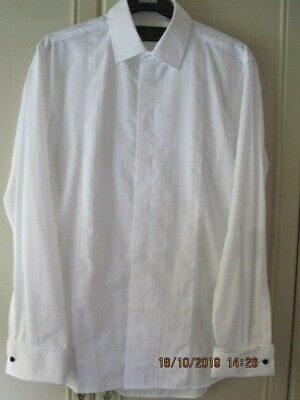 M&S White Dress Shirt Size 15.5 Slim Fit