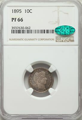 1895 US Silver 10C Barber Dime Proof - NGC PF66 - CAC