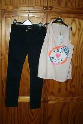 Girls  Outfit Next Skinny Jeans M&S Brand New Top Age 13-14  Years