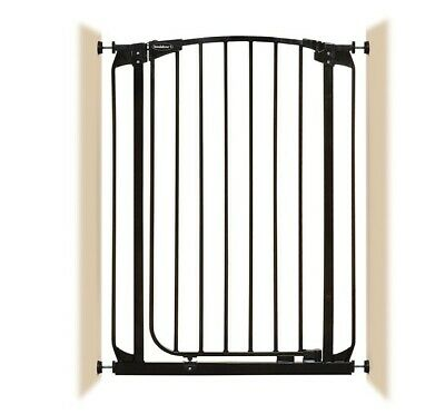 """28""""-32"""" XTall Auto-Close Adjustable Black Indoor Dog, Pet & Baby Safety Gate"""