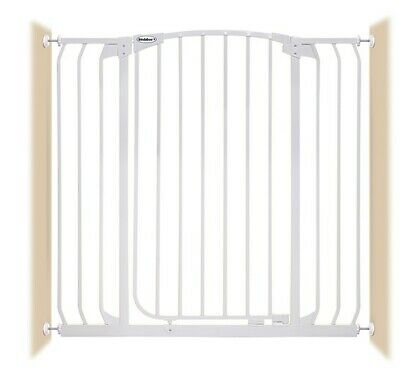 """38""""-42"""" XTall Auto-Close Adjustable White Indoor Dog, Pet & Baby Safety Gate"""
