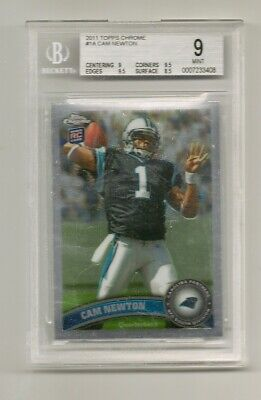 "Cam Newton ""Panthers"" 2011 Topps Chrome Rc Bgs 9"