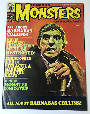 November 1969 FAMOUS MONSTERS #59 ~ Dark Shadows,Christopher Lee,Frankenstein