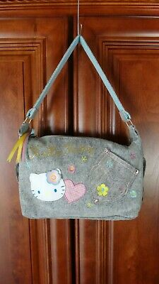 Hello Kitty SanRio Blue Jean Purse Bag
