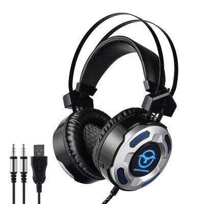 3.5mm Gaming Headphone With Microphone Wired PC Headset Earphone LED Lighting