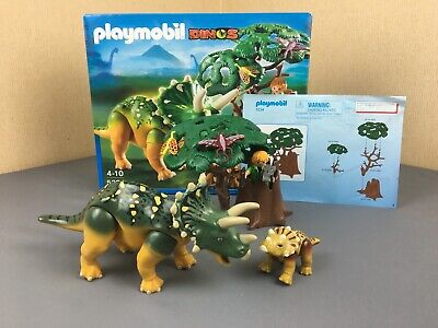 Playmobil Set 5234 Adventure Explorer and Triceratops with Baby - 100% Complete