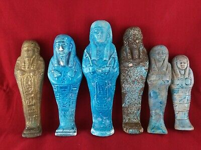 6 Ancient Egyptian Antiques Ushabti  (500 BC)
