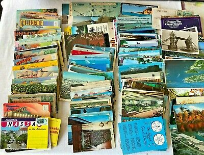 Vintage Lot 300 + Post Cards from around the USA Mid Century Used and Unused