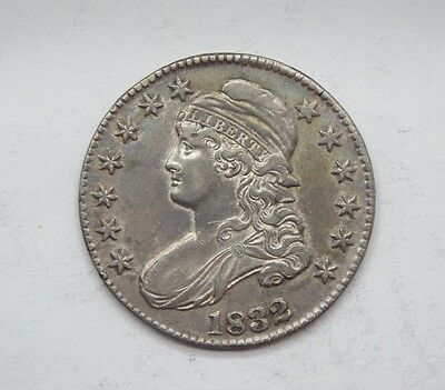 1832 SMALL Letters Capped Bust/Lettered Edge Half Dollar EXTRA FINE Silver 50c