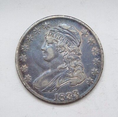 1833 Capped Bust/Lettered Edge Half Dollar EXTRA FINE Silver 50c