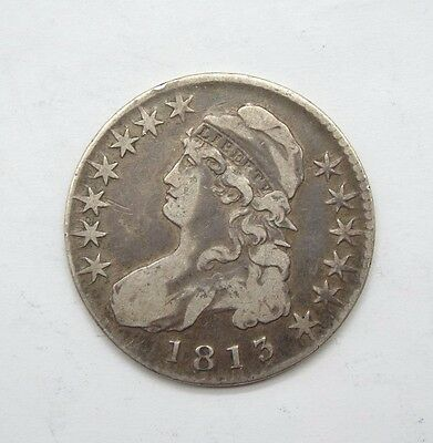 1813 Capped Bust/Lettered Edge Half Dollar FINE/VERY FINE Silver 50c