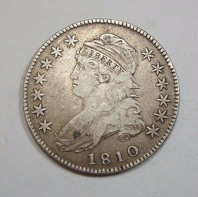 1810 Capped Bust/Lettered Edge Half $ VERY FINE Silver 50-Cents