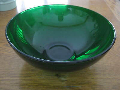 Vintage Anchor Hocking Forest Green Large Popcorn, Salad, Serving Bowl
