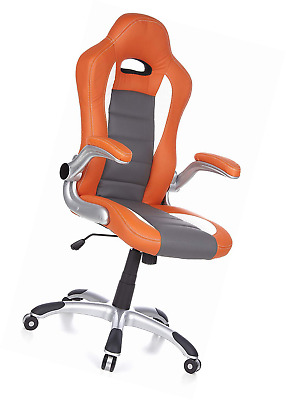 HJH Office, 621700, Gaming chair, Home, RACER SPORT, orange, faux leather, High