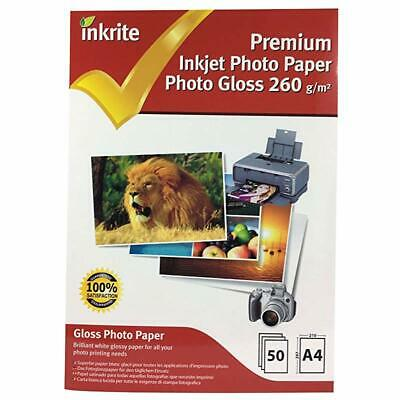 """Inkrite A4 260 gsm Premium """"PhotoPlus"""" Professional Photo Gloss Paper (Pack of 5"""