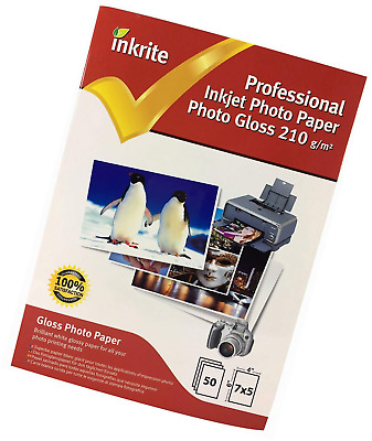 Inkrite 7 x 5 mm 210 GSM PhotoPlus Professional Paper - Photo Gloss (Pack of 50