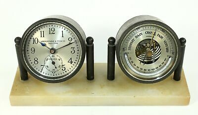Chelsea Abercrombie & Fitch Co. Desk Clock, Barometer & Thermometer - Bd04
