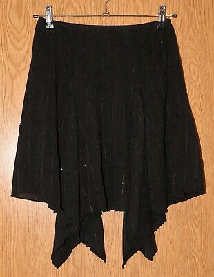 Girls Comfy Black Sequined Its A Girl Thing Skirt Size Large excellent