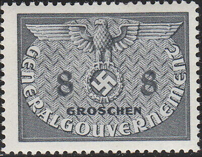 Stamp Germany Poland General Gov't Official Mi 02 Sc NO2 1940 WW2 War MNG