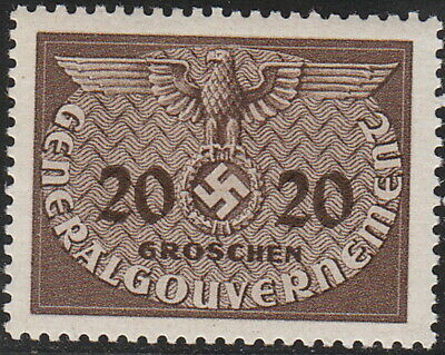 Stamp Germany Poland General Gov't Official Mi 05 Sc NO5 1940 WW2 War MNG