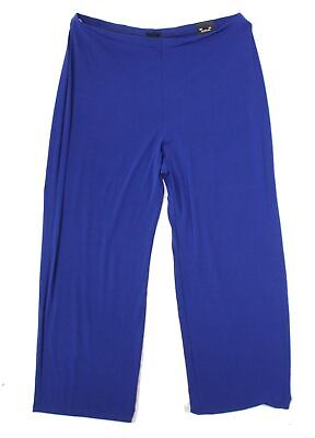 Alfani Womens Pants Blue Size 2X Plus Wide-Leg Pull-On Solid Stretch $69 238
