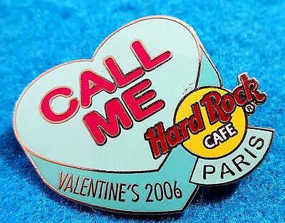 Paris VALENTINSTAG Candy Herz Serie Call Me 2006 Hard Rock Cafe Pin Le