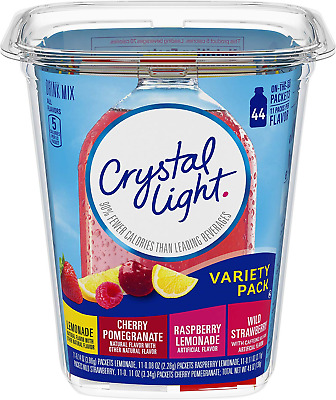 Crystal Light Drink Mix Variety Box 44 On The Go Sachets - 4 Flavours 139g