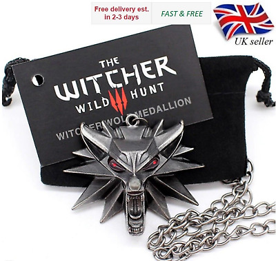 The Witcher 3 Lupo Medaglione Geralt Cosplay Collana Gamer Merch