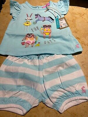 Baby Girls Joules 3-6 2 Piece Set 3-6 Month New With Tags £24-95