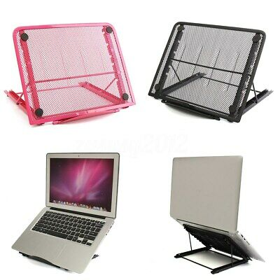 Adjustable Laptop Table Stand Desk Bed Computer Study Portable Folding Sofa Tray