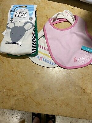 Baby Girls Joules Bundle Age 6-12 Month New With Tags Joules Lively Leggings Ect